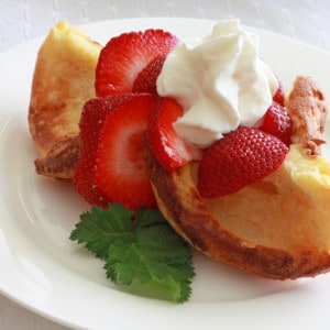 Strawberries and Cream Popovers