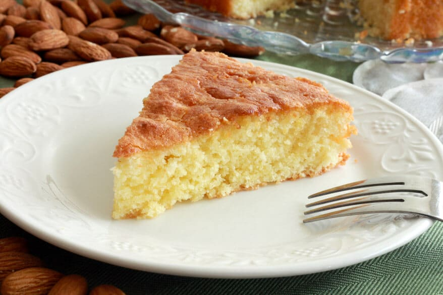 French Almond Cake with Green Tea Honey Glaze - The Daring Gourmet