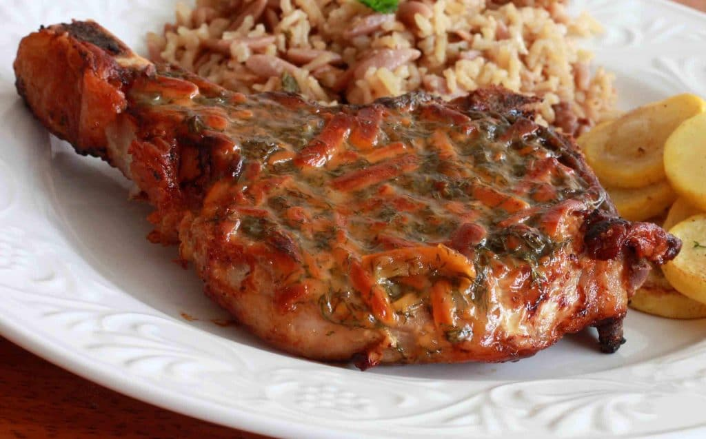 Honey Mustard Dilly Cheese Pork Chops 1