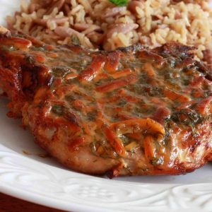 Honey Mustard Dilly Cheese Chops