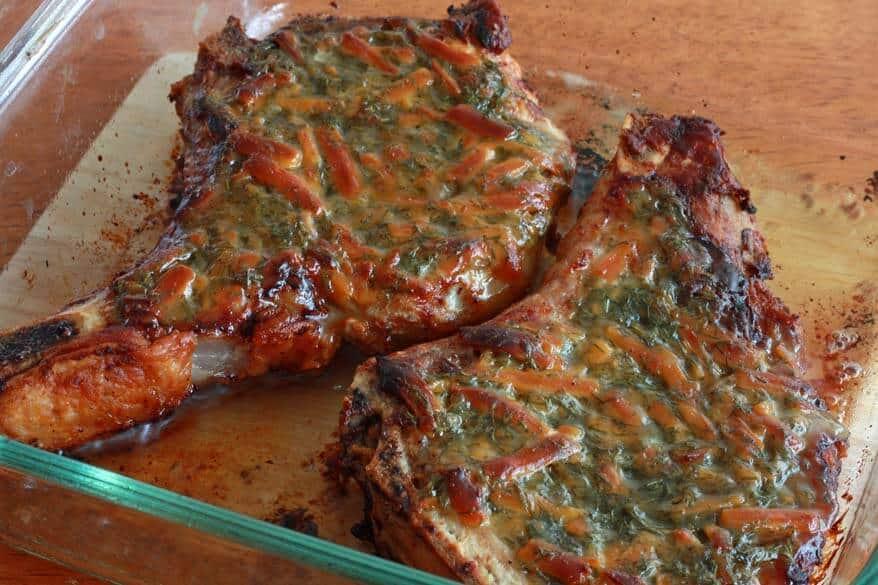 Honey Mustard Dilly Cheese Pork Chops prep 12
