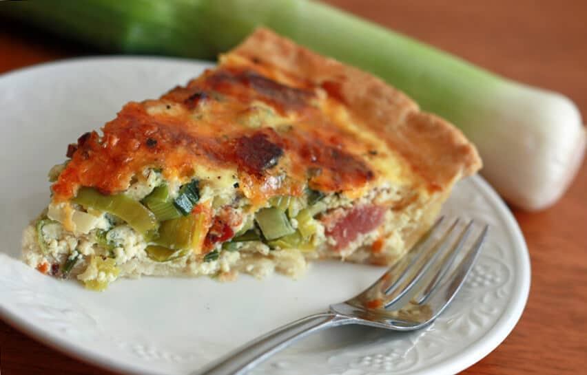 Bacon Leek Quiche