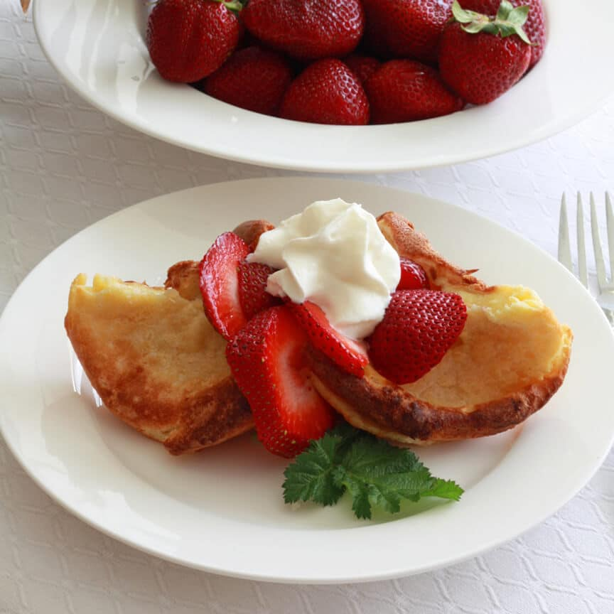 Strawberries and Cream Popovers - The Daring Gourmet