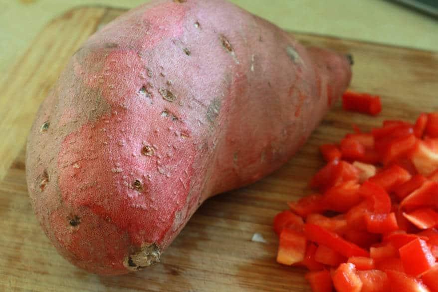 Sweet Potato Corn Chowder prep 6