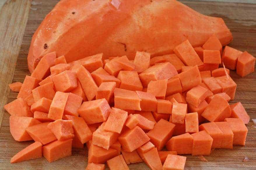 Sweet Potato Corn Chowder prep 8