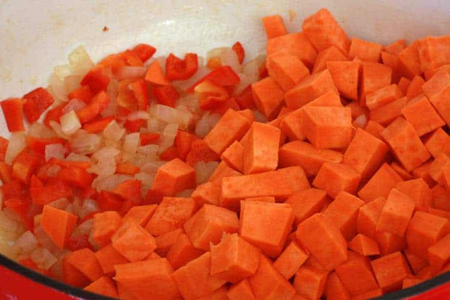 Sweet Potato Corn Chowder prep 9