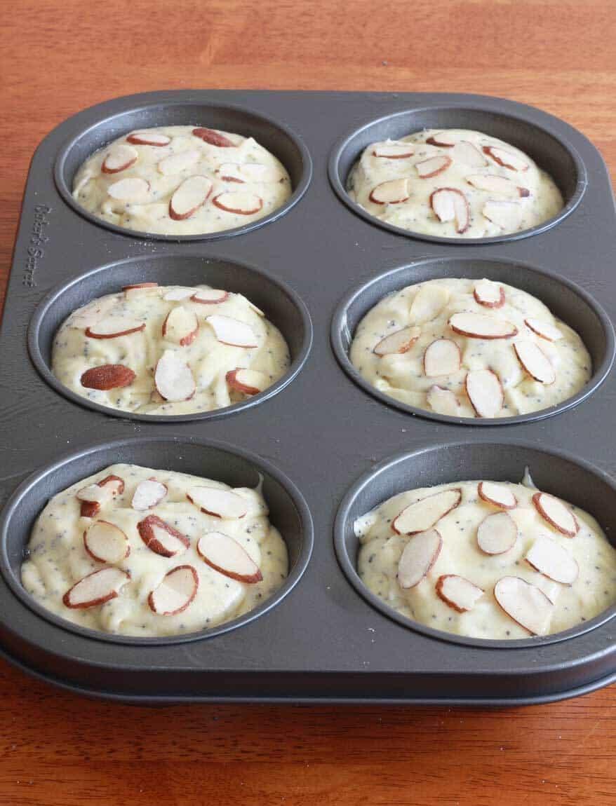 Almond Poppy Seed Muffins prep 6