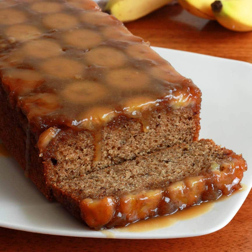 Caramel Banana Upside Down Bread The Daring Gourmet