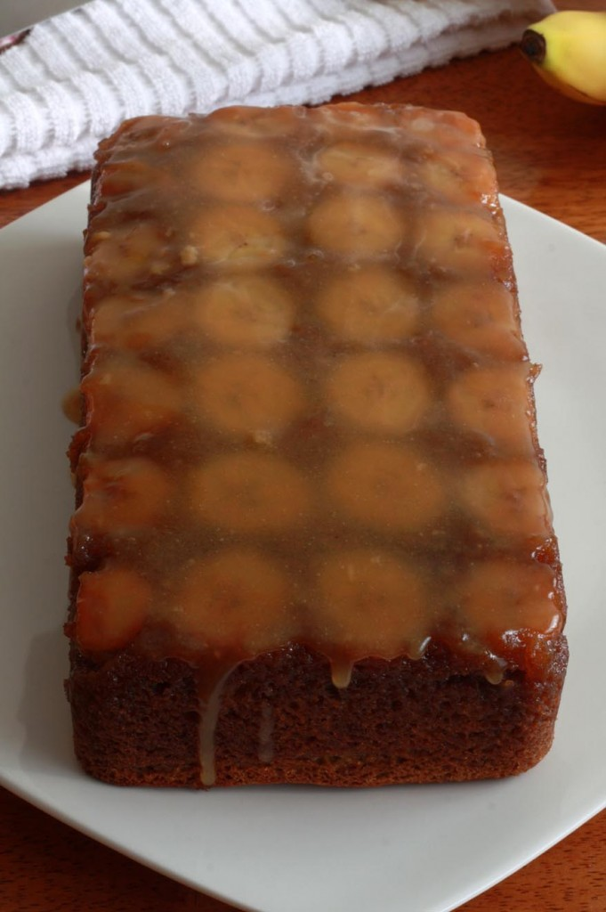 caramel banana upside down bread cake recipe