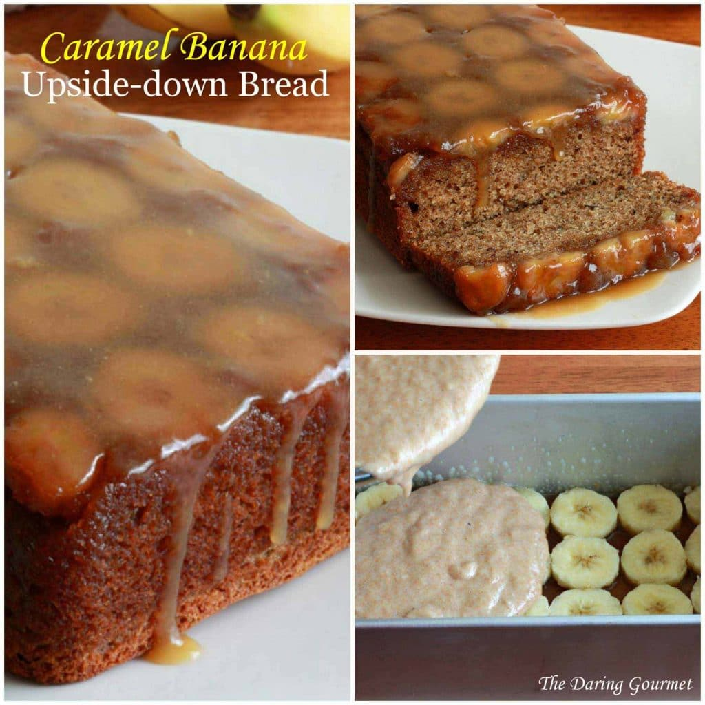 Caramel Walnut Upside Down Banana Cake Recipe — Dishmaps
