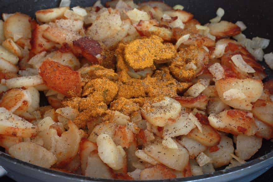 Curry Hash Browns prep 8