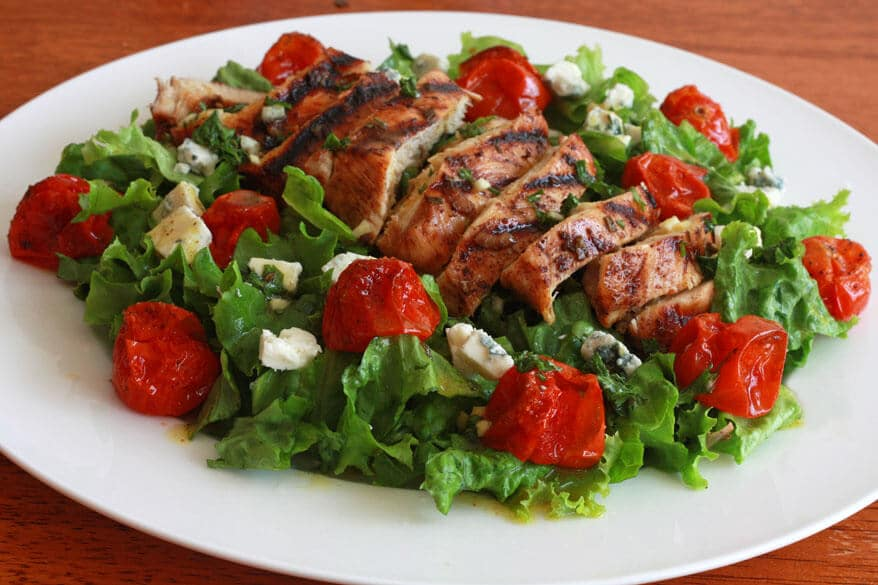 Grilled Chicken Cherry Tomato Salad 2 sm
