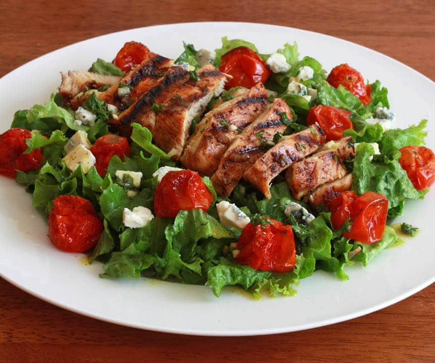 Grilled Chicken Cherry Tomato Salad 3 cropped
