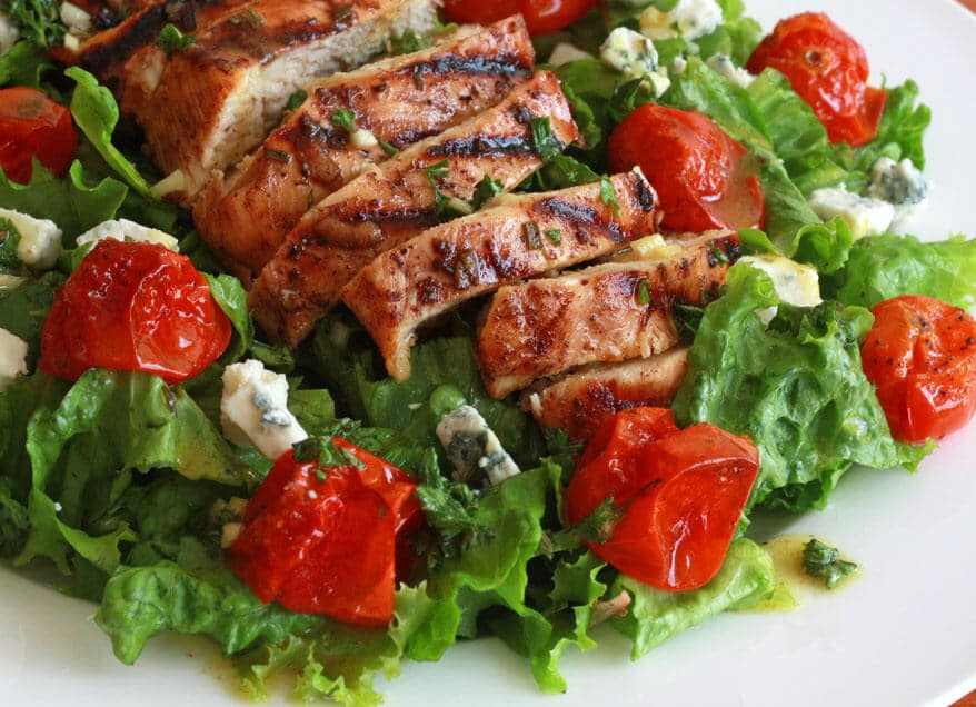 Grilled Chicken Cherry Tomato Salad 4 sm