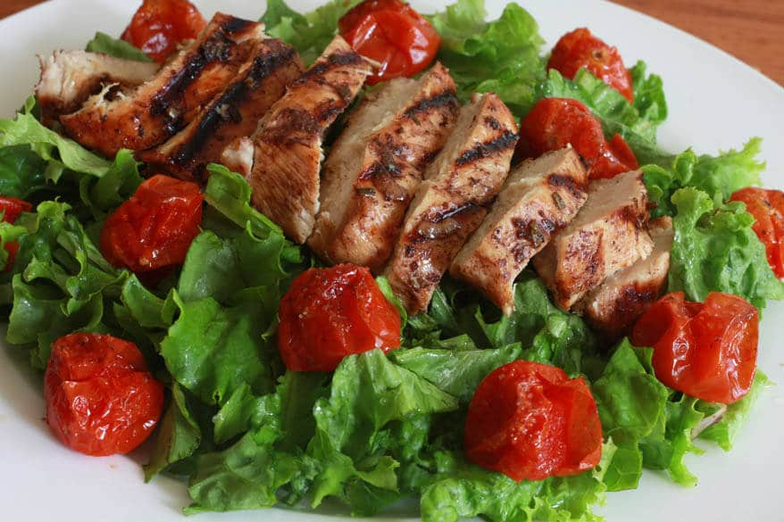 Grilled Chicken Cherry Tomato Salad 9 sm