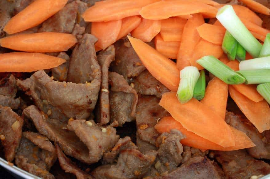 Orange Sichuan Beef prep 10