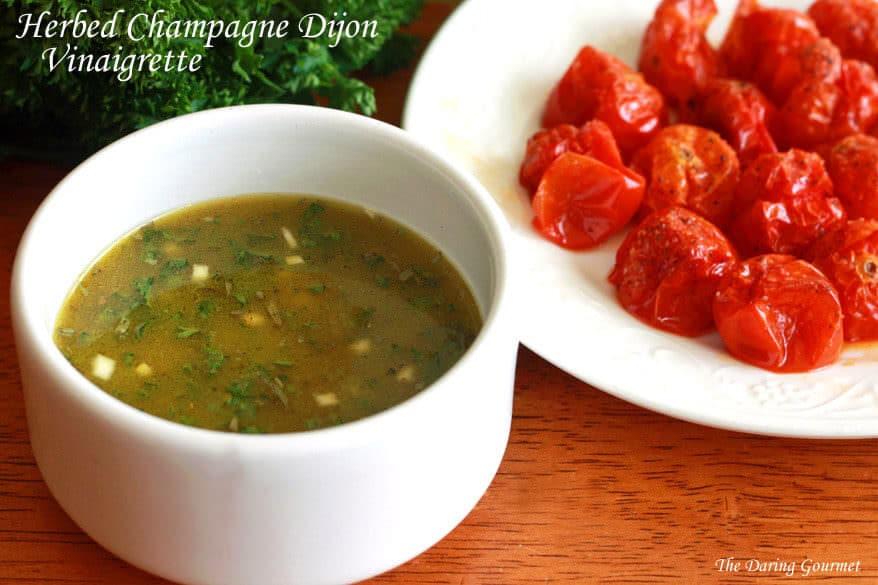 Herbed Champagne Dijon VinaigretteHerbed Champagne Dijon Vinaigrette recipe oil vinegar herbs dressing fresh
