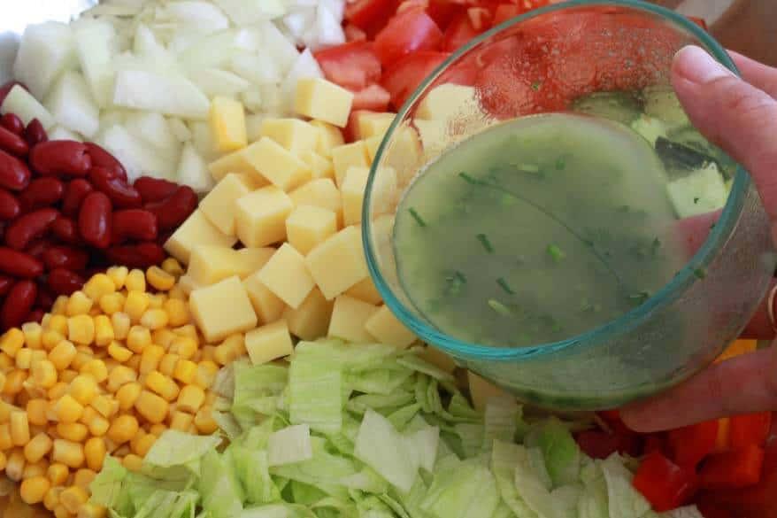 German Party Salad prep 10
