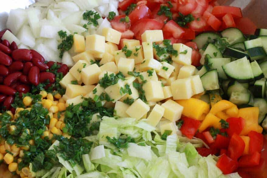 German Party Salad prep 11