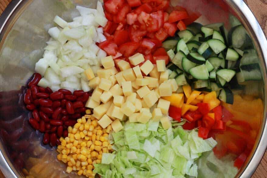 German Party Salad prep 8