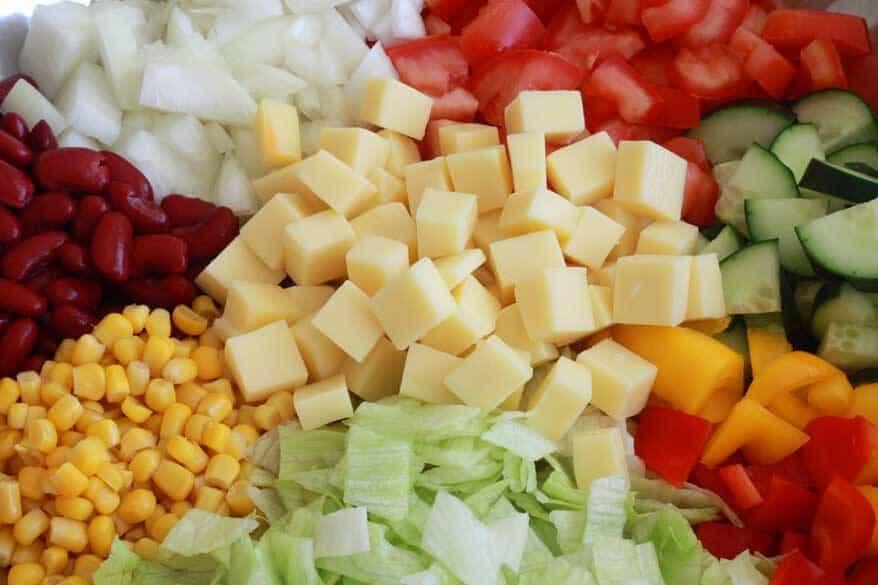 German Party Salad prep 9