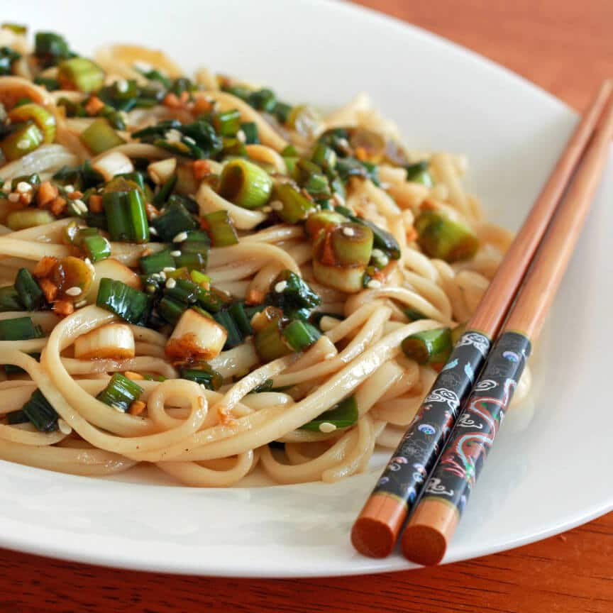 Ginger Scallion Noodles - The Daring Gourmet
