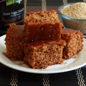 Mega Healthy Honey Olive Quinoa Cake