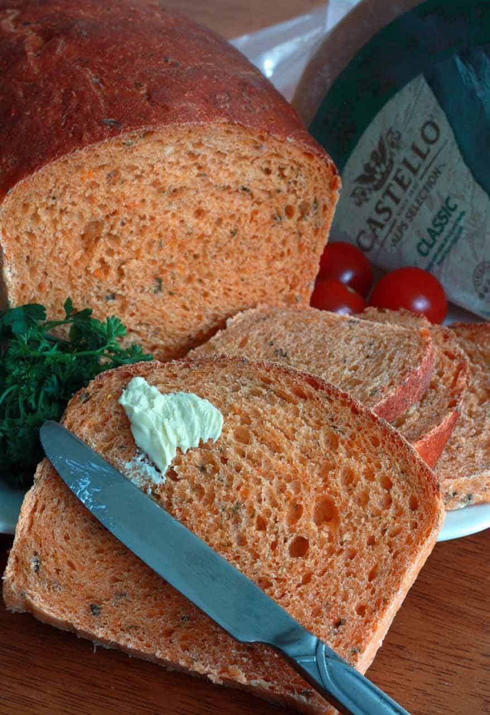 Tomato Herb Bread 3 sm