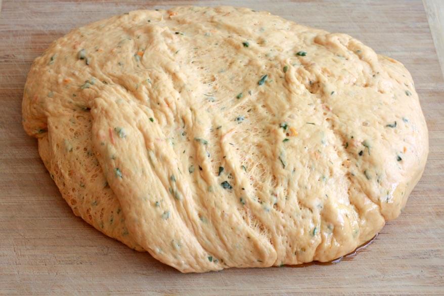 Tomato Herb Bread prep 15