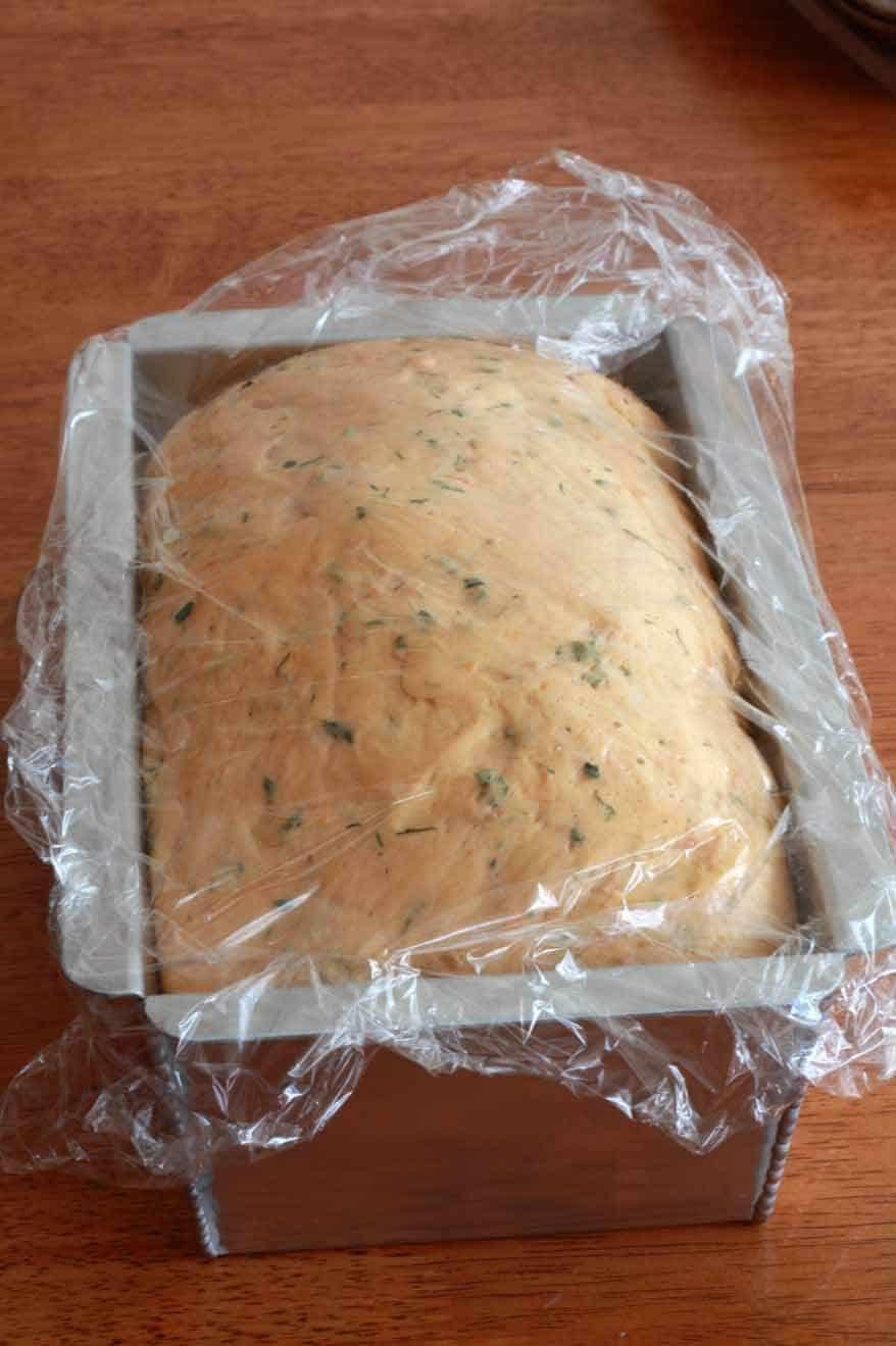 Tomato Herb Bread prep 21