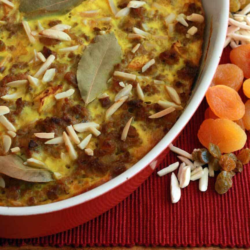 Bobotie South Africa national dish meatloaf casserole