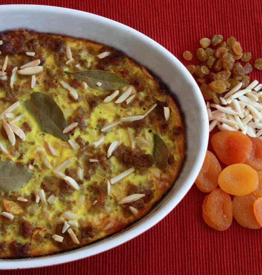 Bobotie South African national dish meatloaf casserole