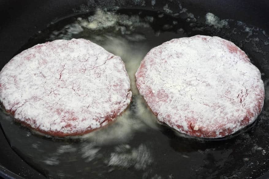 Chicken Fried Steak Burgers prep 5