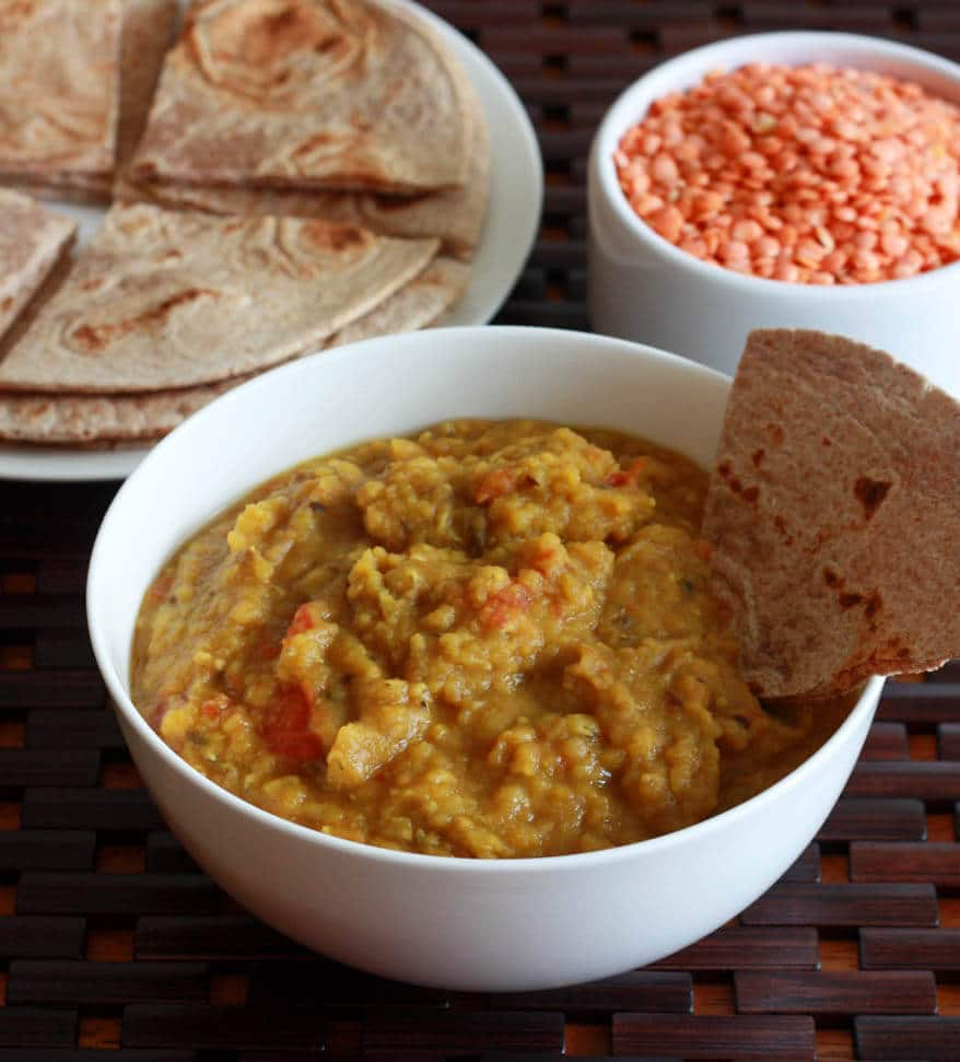 Indian Red Lentil Dip - The Daring Gourmet