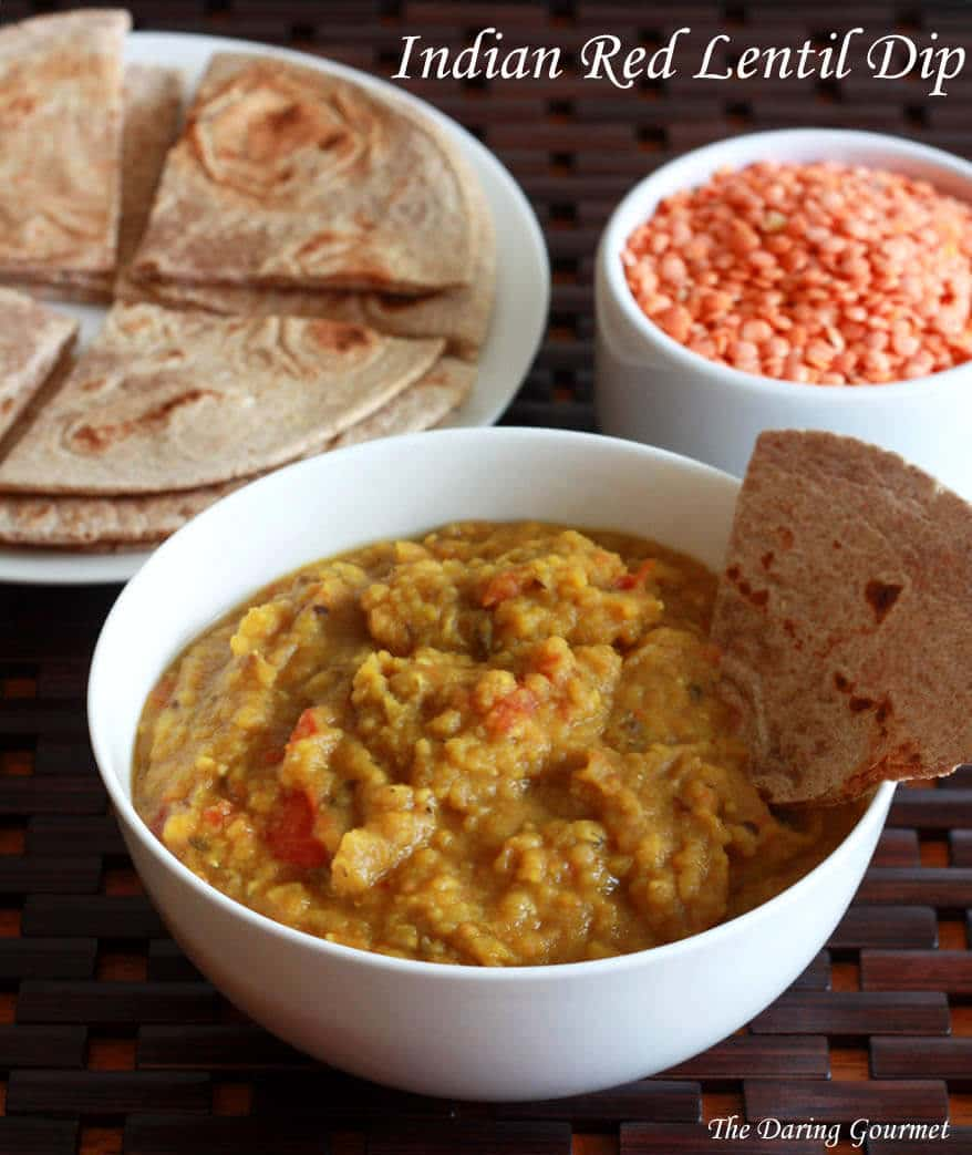 Indian red lentils recipe dip appetizer starter snack authentic side dish