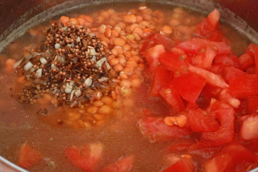 add the remaining spices stir to combine bring the lentils