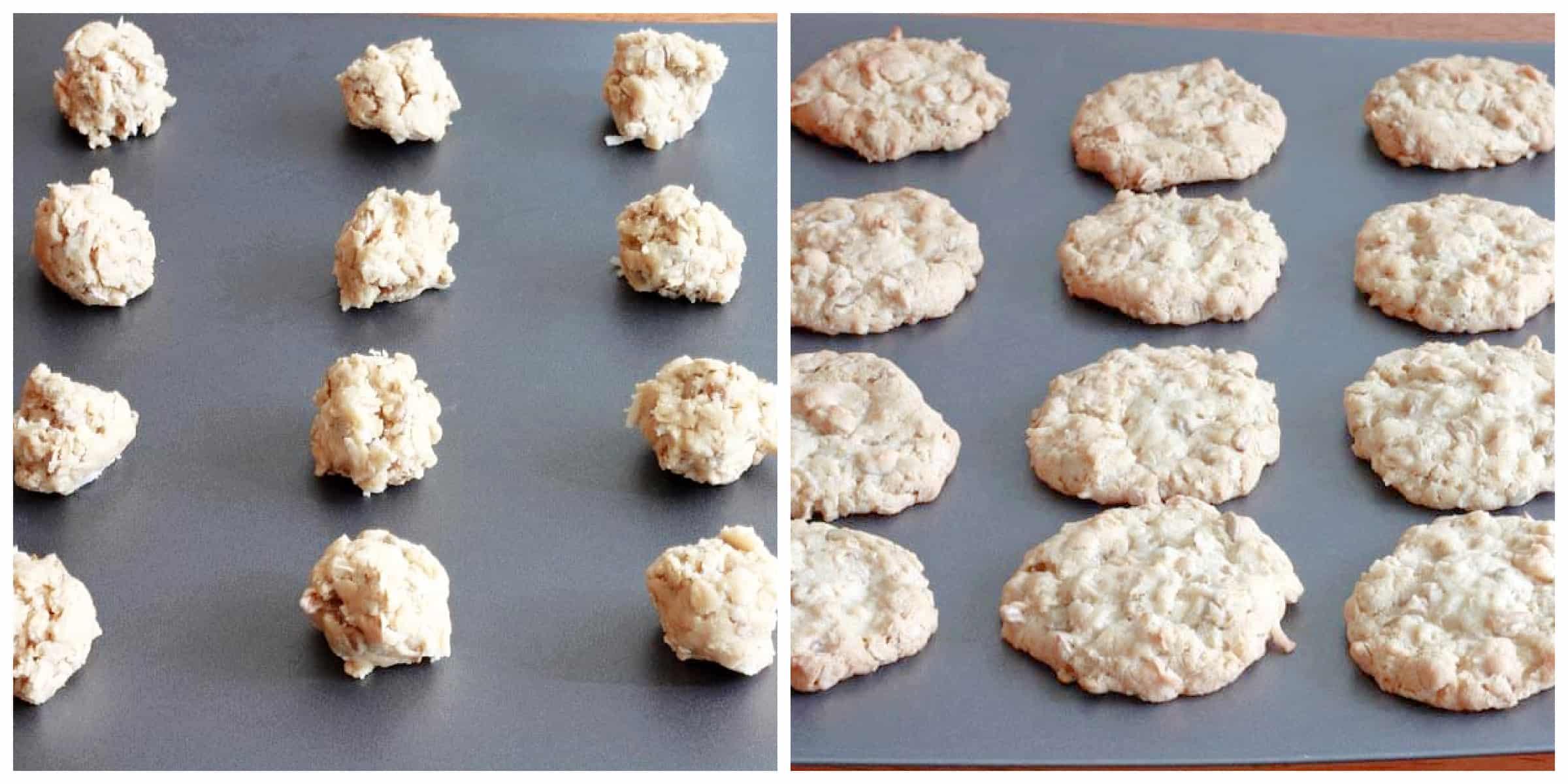 baking cookies on cookie sheet