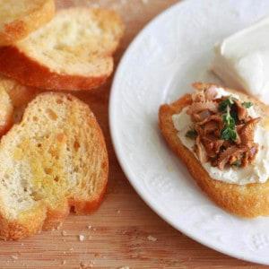Chanterelle Mushroom & Goat Cheese Crostini