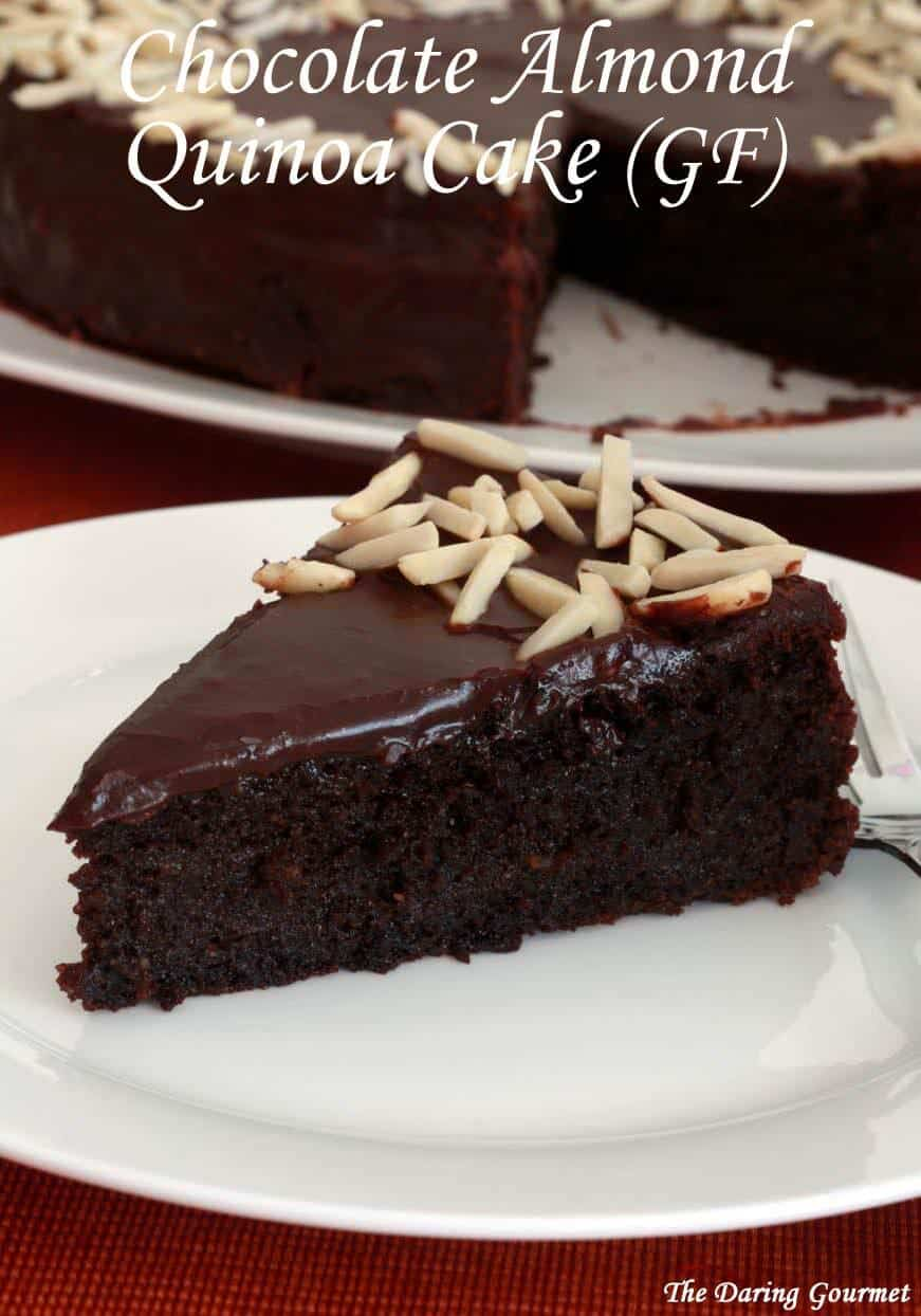gluten free chocolate almond quinoa cake recipe