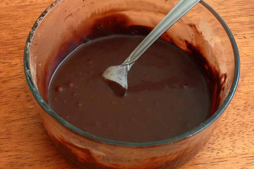 Chocolate Almond Quinoa Cake prep 22