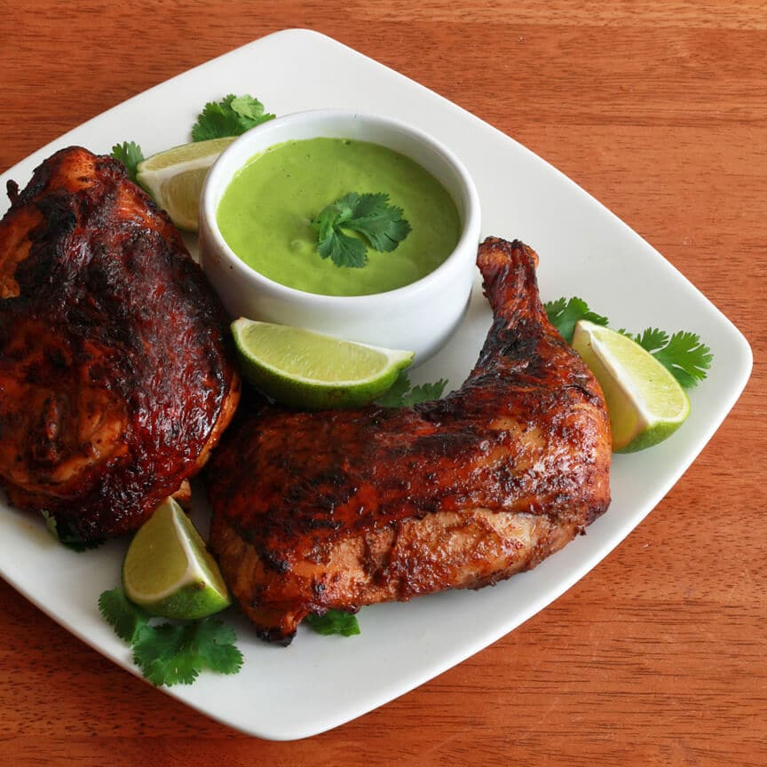 roasted chicken with aji verde recipes dishmaps peruvian roast chicken ...