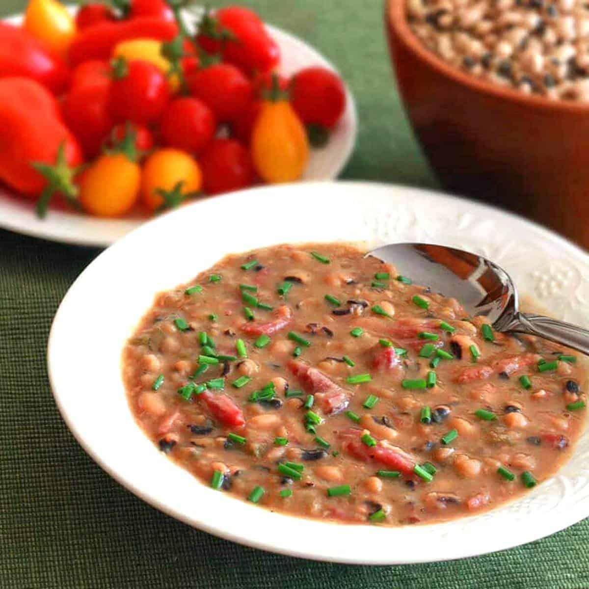 black eyed pea soup recipe smoked ham hocks peppers