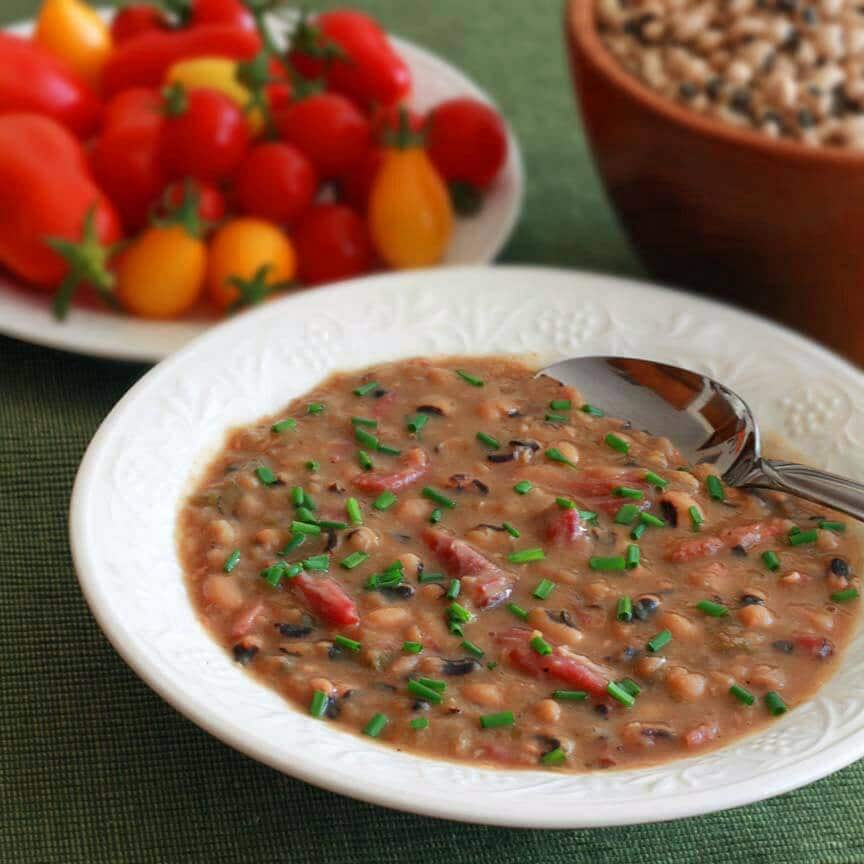 Black Eyed Pea Soup ham recipe southern new years good luck