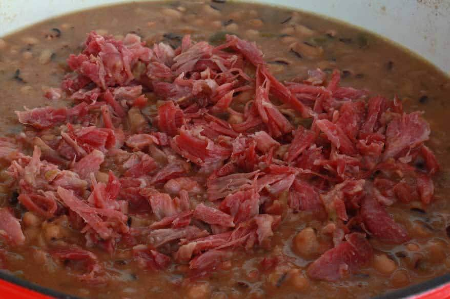 Smoky Black Eyed Pea and Ham Soup
