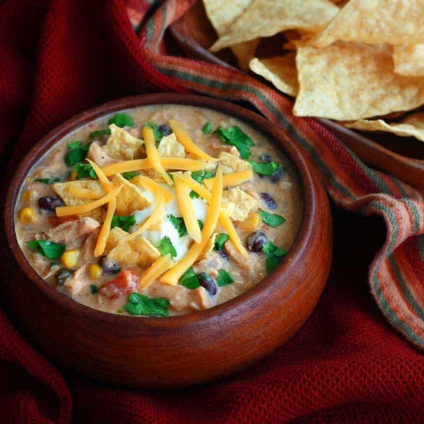 Creamy chicken tortilla soup the daring gourmet for 10 calorie soup gourmet cuisine