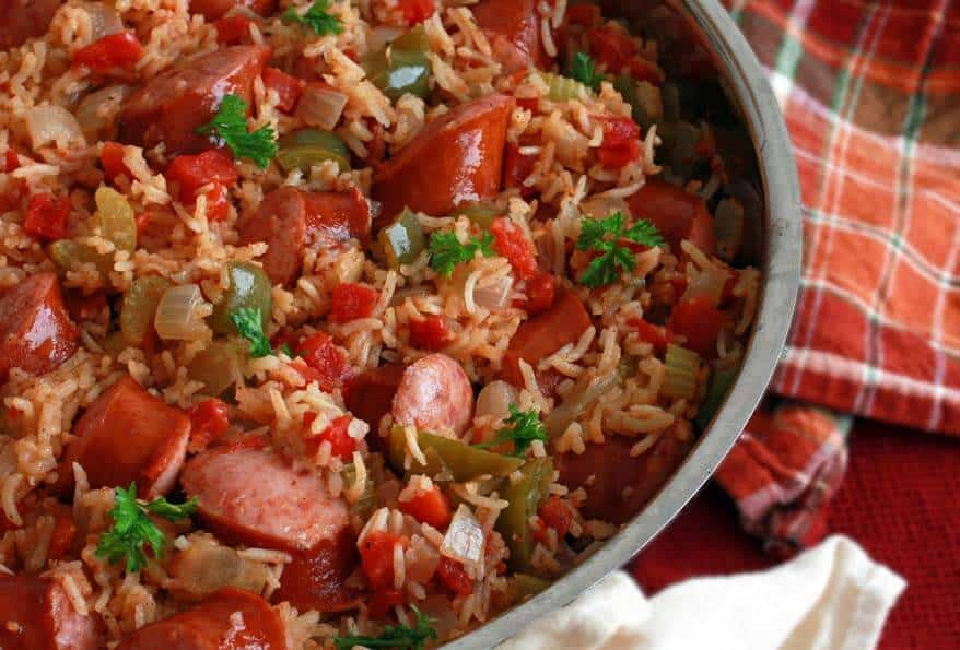 Weeknight Sausage Jambalaya