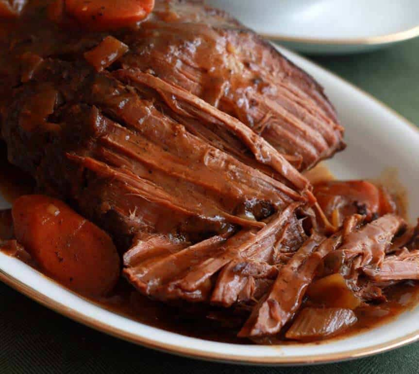 Classic Slow Cooker Pot Roast - The Daring Gourmet