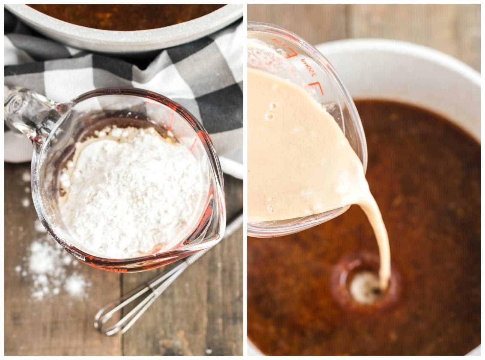 thickening gravy with flour slurry