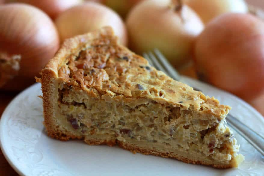 Schwäbischer Zwiebelkuchen German Onion Cake