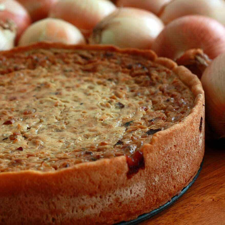 Zwiebelkuchen (German Onion Pie)